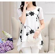ieftine -bluza de munca din poliester pentru femei - florala, print