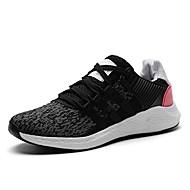 baratos Sapatos Masculinos-Homens Tule Primavera / Verão Conforto Tênis Rosa claro / Rosa e Branco / Branco / Preto