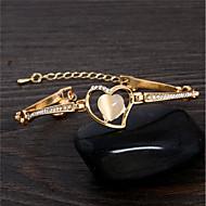 billiga Bröllops- och festsmycken-Dam Armband - Hjärta Ljuv Armband Guld Till Party / Gåva
