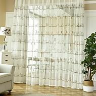billige Gardiner-gardiner gardiner Stue Geometrisk Bomull / Polyester Mønstret