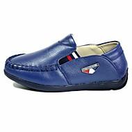 tanie Obuwie chłopięce-Dla chłopców Buty Skórzany Wiosna Jesień Comfort Mokasyny i pantofle na Casual Black Dark Blue Yellow