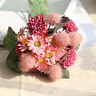 billige Kunstig Blomst-Kunstige blomster 11 Rustikt / Bryllup Hortensiaer / Planter / Krysantemum Bordblomst / Ikke Inkluderet