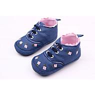 baratos Sapatos de Menino-Para Meninos / Para Meninas Sapatos Tecido Outono & inverno Primeiros Passos Botas para Branco / Azul / Rosa claro