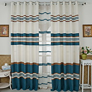 billige Gardiner-gardiner gardiner Soverom Stribe Moderne Bomull / Polyester Pigment Tryk