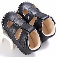 tanie Obuwie dziewczęce-Dla chłopców / Dla dziewczynek Obuwie Derma Lato Buty do nauki chodzenia Sandały na White / Black / Brown