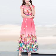 Žene Boho Šifon Swing kroj Haljina - Print, Cvjetni print Maxi