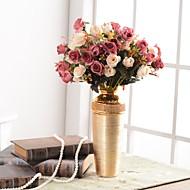 billige Kunstig Blomst-Kunstige blomster 1 Afdeling Tradisjonell / Klassisk / Europæisk Vase Bordblomst / Enkelt Vase