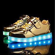 baratos Sapatos de Menino-Para Meninos / Para Meninas Sapatos Couro Ecológico Primavera Tênis com LED Tênis LED para Crianças Dourado / Prata / Rosa claro