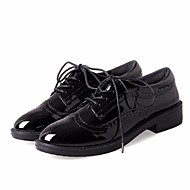 cheap Women's Oxfords-Women's Shoes PU(Polyurethane) Spring / Fall Comfort Oxfords Low Heel Round Toe Black