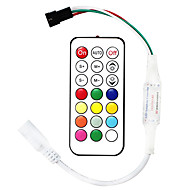 billige belysning Tilbehør-1pc 12-24 V Strip Light Tilbehør / RF trådløs / med DC-kontakt RGB-kontroller Plast for RGB LED Strip Light