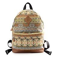 baratos Mochilas-Mulheres Bolsas mochila Estampa para Ao ar livre Marron / Dourado Claro / Marron Escuro