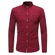 Majica Muškarci - Osnovni Dnevno Jednobojni Kineski ovratnik / Dugih rukava