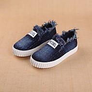 tanie Obuwie chłopięce-Dla dziewczynek Dla chłopców Buty Jeans Wiosna Jesień Comfort Mokasyny i pantofle na Casual Black Dark Blue Light Blue