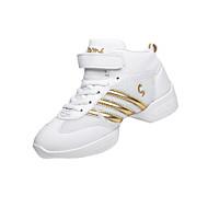 baratos Sapatos Femininos-Mulheres Sapatos Flocagem Primavera / Outono Conforto Tênis Cinzento / Preto e Dourado / Preto / Vermelho