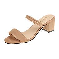 Žene Cipele PU Proljeće Ljeto Udobne cipele Sandale Wedge Heel Otvoreno toe za Formalne prilike Crn Pink Badem