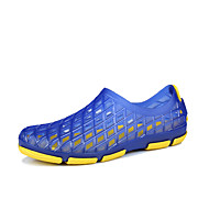 baratos Sapatos Masculinos-Homens Couro Ecológico Primavera / Outono Conforto Tênis Preto / Cinzento / Azul