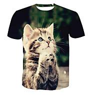 男性用 Tシャツ ラウンドネック 動物