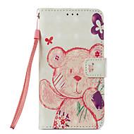 billiga Mobil cases & Skärmskydd-fodral Till Xiaomi Redmi not 5A Redmi Note 4X Korthållare Plånbok med stativ Lucka Mönster Fodral Djur Hårt PU läder för Redmi Note 5A