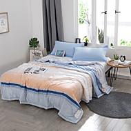 billige Hjemmetekstiler-Komfortabel 1stk Sengetæppe 1stk dyne, Håndlavet Reaktivt Trykk Stripet Sommer