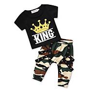 Børn Baby Drenge Trykt mønster Kortærmet Tøjsæt