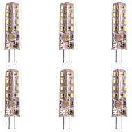 billige Bi-pin lamper med LED-WeiXuan 6pcs 2W 160lm G4 LED-lamper med G-sokkel T 32 LED perler SMD 3014 Varm hvit Kjølig hvit 220-240V
