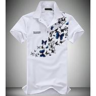 פרחוני צווארון חולצה פעיל Polo - בגדי ריקוד גברים / שרוולים קצרים