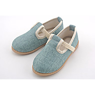 baratos Sapatos de Menina-Para Meninas Sapatos Linho Primavera / Outono Conforto Rasos para Bege / Azul Claro