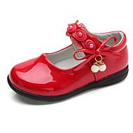 baratos Sapatos de Menina-Para Meninas Sapatos Couro Ecológico Primavera Conforto / Bailarina Rasos para Branco / Preto / Vermelho