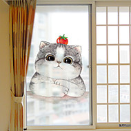 baratos Películas e Adesivos de Janela-Personagem Moderna Adesivo de Janela Fosco, PVC/Vinil Material Decoração de janela