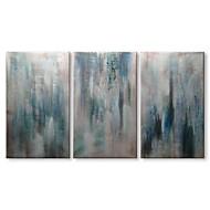 Hang-Painted Oliemaleri Hånd malede - Abstrakt Moderne Lærred