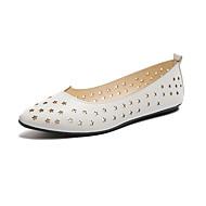 Mujer Zapatos PU Otoño Confort Bailarinas Dedo redondo Pompón Gris / Verde Ejército / Rosa Kn5Bq
