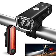 billige Sykkellykter og reflekser-Frontlys til sykkel / Baklys til sykkel / Sett med oppladbare sykkellykter LED Sykling Vanntett, Bærbar Li-ion 500 lm Sykling