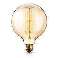 baratos Incandescente-1pç 40 W E26 / E27 G125 Branco Quente 2200-2700 k Retro / Regulável / Decorativa Incandescente Vintage Edison Light Bulb 220-240 V