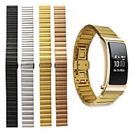 billiga Smart klocka Tillbehör-Klockarmband för Huawei B3 Huawei fjäril spänne Rostfritt stål Handledsrem
