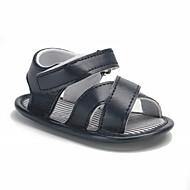 baratos Sapatos de Menino-Para Meninos / Para Meninas Sapatos Courino Verão Conforto / Primeiros Passos / Sapatos de Berço Sandálias Velcro para Bebê Branco /