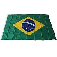 baratos Decoração-Decorações de férias Eventos esportivos Copa do Mundo Bandeira Nacional Brazil 1pç