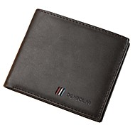 cheap Wallets-Men's Bags PU Leather / Polyurethane Leather Wallet Tiered Black / Coffee