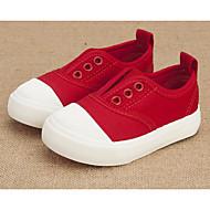 tanie Obuwie chłopięce-Dla dziewczynek Dla chłopców Buty Płótno Wiosna Jesień Buty do nauki chodzenia Comfort Tenisówki na Casual Black Gray Czerwony