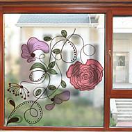 baratos Películas e Adesivos de Janela-Filme de Janelas e Adesivos Decoração Moderna Floral PVC Adesivo de Janela Fosco