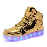 tanie Obuwie chłopięce-Dla chłopców / Dla dziewczynek Obuwie PU Lato Świecące buty Tenisówki LED na Biały / Czarny / Srebro