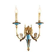 baratos Arandelas de Parede-ZHISHU Estilo Mini Tifani / Rústico / Campestre Luminárias de parede Sala de Estar / Quarto / Sala de Jantar Metal Luz de parede 110-120V