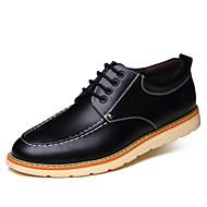 baratos Sapatos Masculinos-Homens Fashion Boots Pele Primavera / Outono Botas Caminhada Botas Curtas / Ankle Preto / Amarelo / Marron