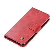 billiga Mobil cases & Skärmskydd-fodral Till Xiaomi Redmi 4X Redmi 4 Korthållare Plånbok Lucka Magnet Fodral Enfärgad Hårt PU läder för Redmi Note 5A Xiaomi Redmi Note 4X