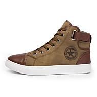baratos Sapatos Masculinos-Homens Fashion Boots Microfibra Primavera / Outono Conforto Botas Botas Curtas / Ankle Preto / Azul / Khaki