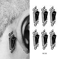billiga Temporära tatueringar-10pcs Klistermärke Blomserier Tatueringsklistermärken