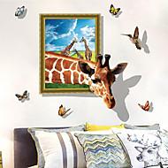 billiga Väggklistermärken-Dekrativa Väggstickers - Animal Wall Stickers Djur 3D Vardagsrum Sovrum Badrum Kök Matsalsrum Studierum / Kontor