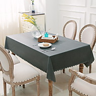 cheap Table Linens-Contemporary PVC Square Table Linens Solid Colored Table Decorations