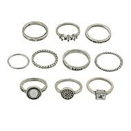 Damen Ring-Set Imitation Turmalin Aleación damas Grundlegend Modisch Moderinge Schmuck Gold / Silber Für Alltag Verabredung 7 6pcs