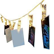billiga Belysning-1.5m Ljusslingor 10 lysdioder Varmvit RGB Dekorativ AA Batterier Drivs 1st