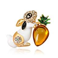 Жен. Броши Rabbit Животный принт европейский Мода Брошь Бижутерия Белый Черный Назначение Подарок Повседневные